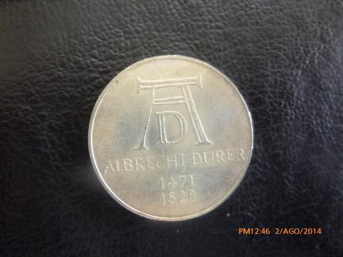 moneda alemania 5 mark 1971 albrecht dürer  plata 0.625(810z