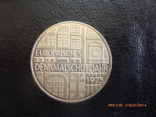 moneda alemania 5 mark 1975 european mo plata 0.625(814z