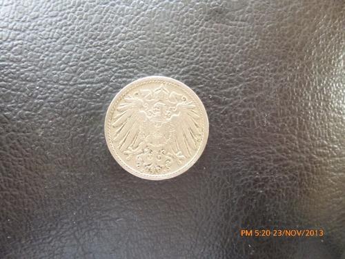 moneda alemania imperio  10 pfenning 1905 (142z