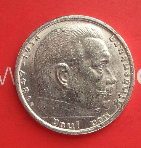 moneda  alemania nazi  2 marcos de plata ( n c )
