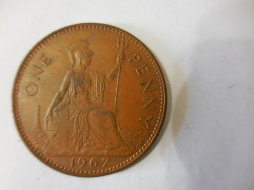 moneda antigua 1 coleccionable 1967 england