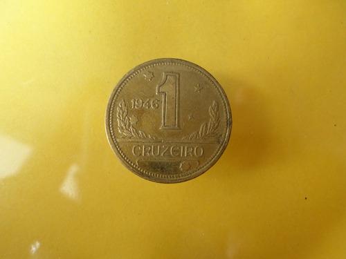 moneda antigua 1 cruzeiro 1946 brasil