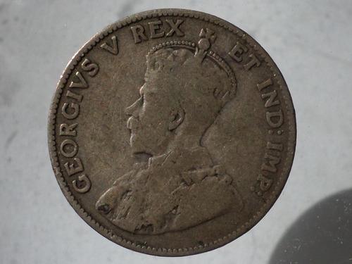moneda antigua 25 centavos 1911 canada