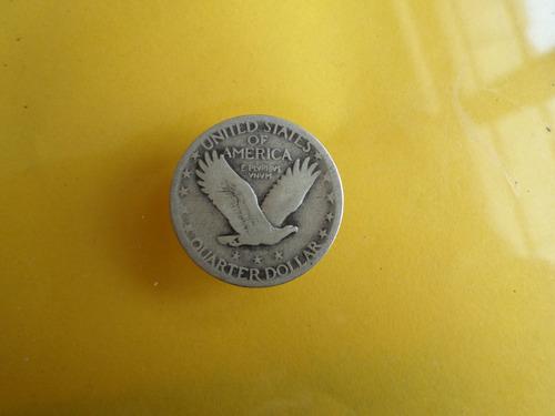 moneda antigua 25 centavos dolar 1926