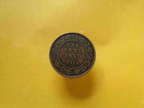 moneda antigua centavo de canada 1912