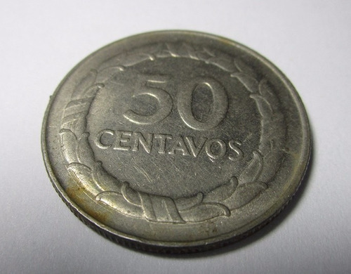 moneda antigua colombia 1967 50 centavos grande