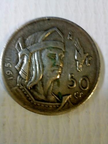 moneda antigua de 50 centavos cuauhtemoc aguila