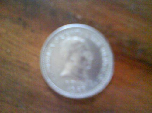 moneda antigua de 50 centésimos uruguaya del año 1960