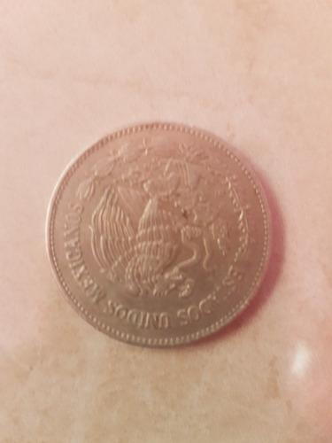 moneda antigua de 50 pesos de 1982