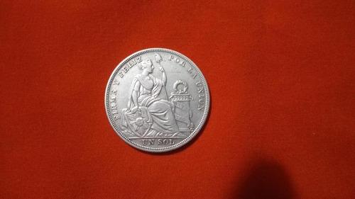 moneda antigua de un sol 1924 republica peruana