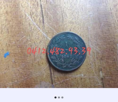 moneda antigua de venzuela 1 centavo de 1862