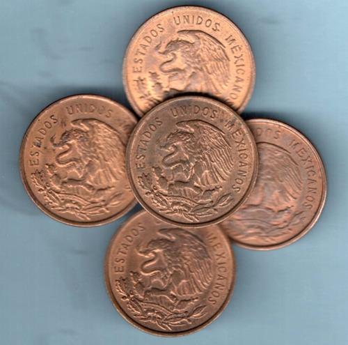 moneda antigua diez  centavos cobre juarez   1966  brillo c5