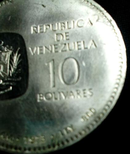 moneda antigua  doblón  bs. 10 de 1973