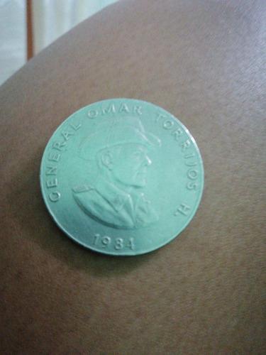 moneda antigua, general omar torrijos h.  1984