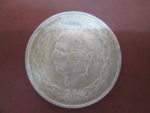 moneda antigua hidalgo 5 pesos grande plata ley .725