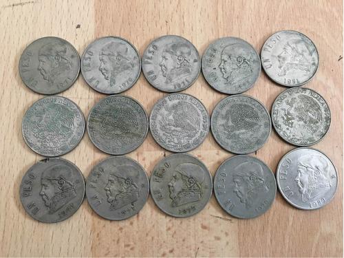 moneda antigua mexicana de 1 peso circuló de 1970 a 1983