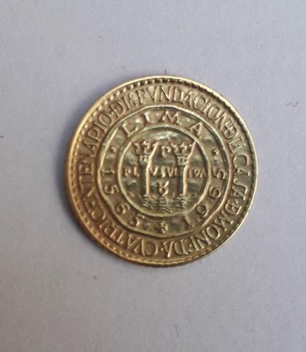 moneda antigua peruana de 5 centavos de 1965