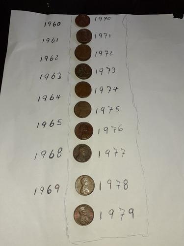 moneda antigua usada 1970 hasta 1979