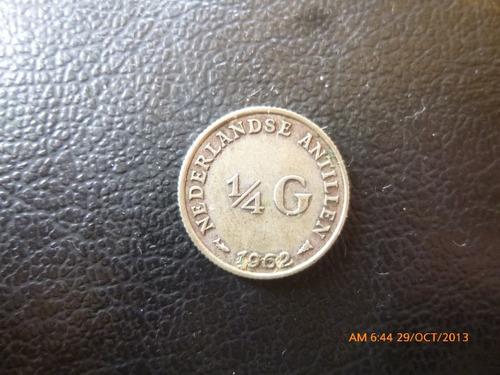 moneda antillas holandesas 1/4 gulden 1962 0.640 (1063z
