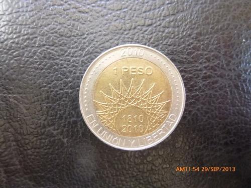 moneda argentina 1 pesos conmemorativo 2010 aconcagua (278z