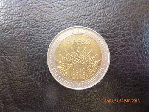 moneda argentina 1 pesos conmemorativo 2010 aconcagua (378z
