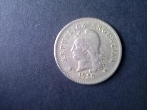 moneda argentina 10 centavos niquel 1926