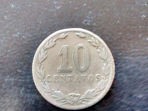 moneda argentina 10 centavos `patacon 1921 (759z