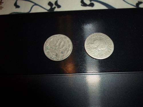 moneda argentina 10 ctvs. 1898 x 2