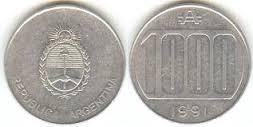 moneda argentina 1000 austral
