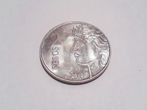 moneda argentina $2 2010 - 75 aniversario del banco central