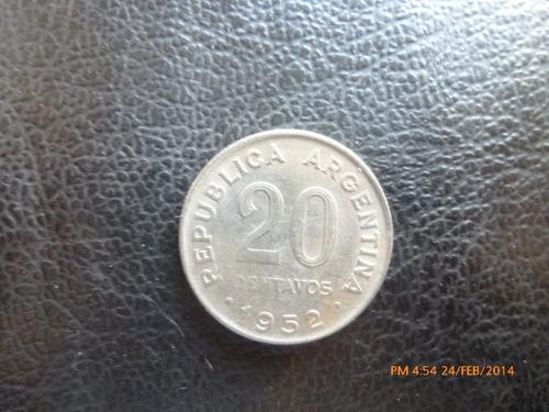 moneda argentina 20 centavos 1952 (129z -