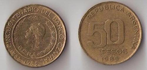 moneda argentina 50 pesos argentinos cincuentenario bcra