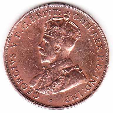 moneda australia 1933 one penny