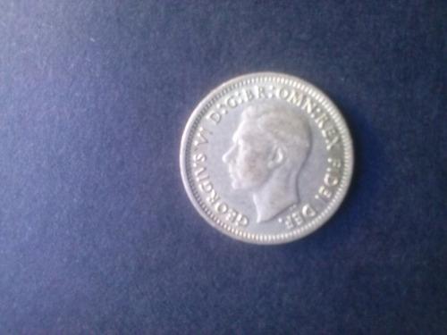 moneda australia 3 pence 1949 plata (c15)