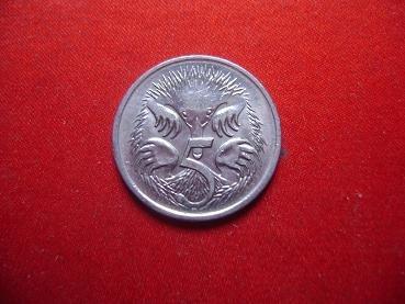 moneda australia 5 cts 2001
