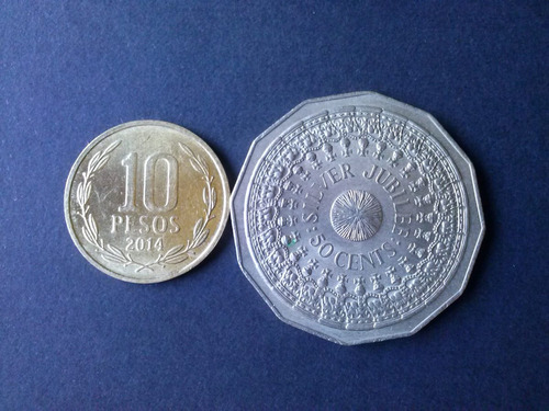 moneda australia 50 cent niquel 1977 conmemorativa (c43)