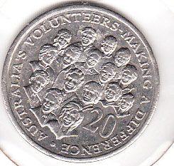 moneda australia  volunteers making a diference  2003
