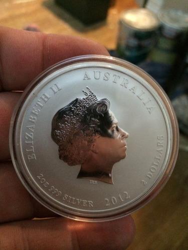 moneda australiana de plata 2 onzas dragon 2012  !!