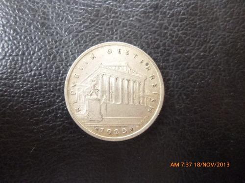 moneda austria 1 schilling  1925 plata 0.835 (1032z