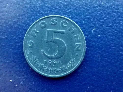 moneda austria 5 groschen 1961 (702z