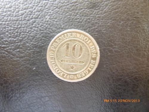 moneda belgica 10 centimes 1862 (153z
