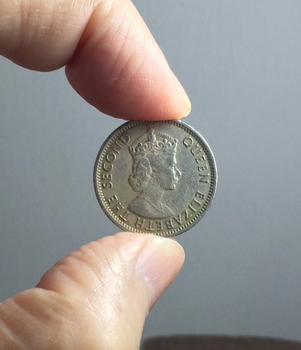 moneda belize 25 cents 1991 elizabeth i i primer retrato