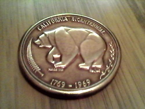 moneda bicentenario conmemorativa califonia
