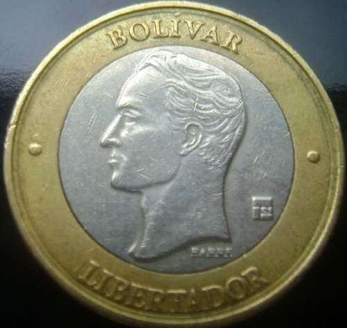 moneda bimetálica 2005 ( bs.1000) (error doble cuello)