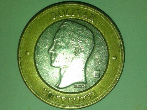 moneda bimetalica 2005 (bs1000) error doble cuello