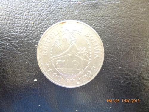 moneda bolivia 5 bolivianos 1978 (351z