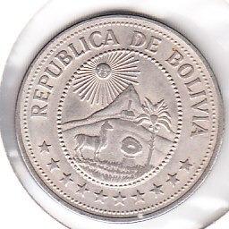 moneda bolivia republica cinco pesos bolivianos 1976