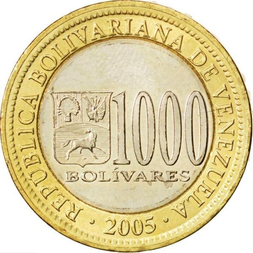 moneda ( bs.1000) bimetálica 2005