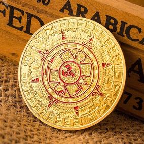 Calendario Azteca.Moneda Calendario Azteca Banada Oro Coleccion Envio Gratis