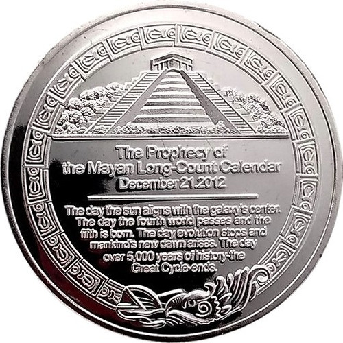 moneda calendario azteca modelo prophecy en exhibidor 360!.